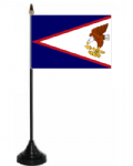 American Samoa Desk / Table Flag with plastic stand and base.
